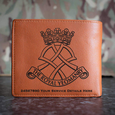 Royal Yeomanry Leather Wallet