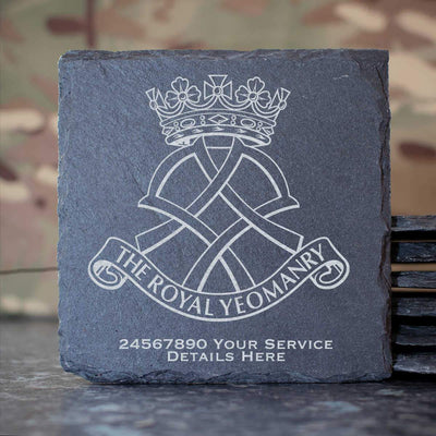 Royal Yeomanry Slate Coaster