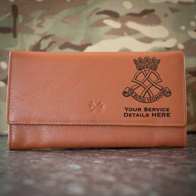 Royal Yeomanry Leather Purse