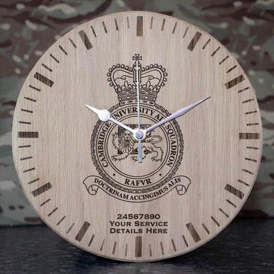 RAF Cambridge University Air Squadron Oak Clock