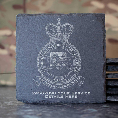 RAF Cambridge University Air Squadron Slate Coaster