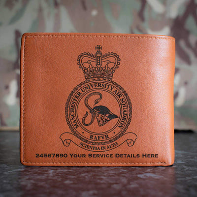 RAF Manchester University Air Squadron Leather Wallet