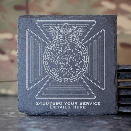 Duke of Edinburghs Royal Regiment Slate Coaster