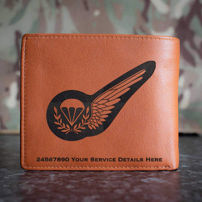 RAF Parachute Jump Instructor Brevet Leather Wallet