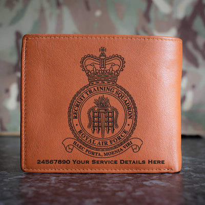 RAF Recruit Training Squadron Leather Wallet