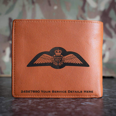 RAF Remote Piloted Air System Pilot Brevet Leather Wallet