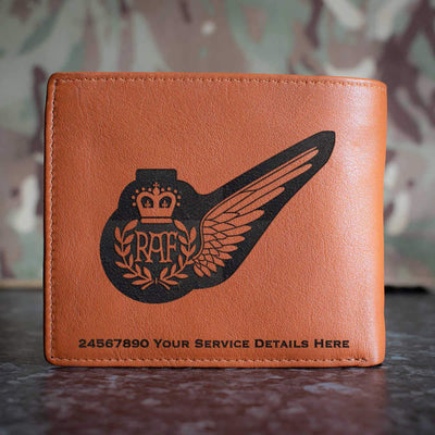 RAF Weapon System Officer Operator brevet Leather Wallet