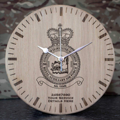 RAuxAF 501 (County of Gloucester) Squadron Oak Clock
