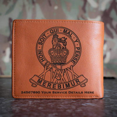 15th19th Kings Royal Hussars Leather Wallet