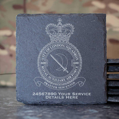 RAuxAF 600 (City of London) Squadron Slate Coaster