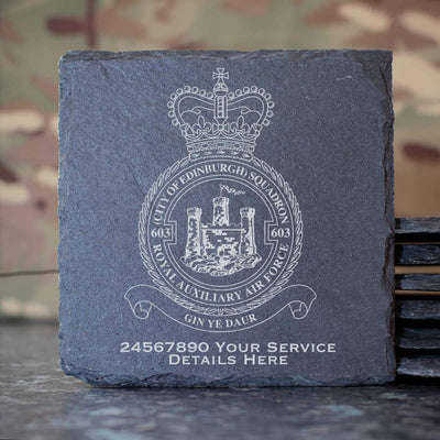 RAuxAF 603 (City of Edinburgh) Squadron Slate Coaster