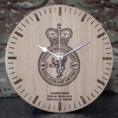RAuxAF 607 (Country of Durham) Squadron Oak Clock