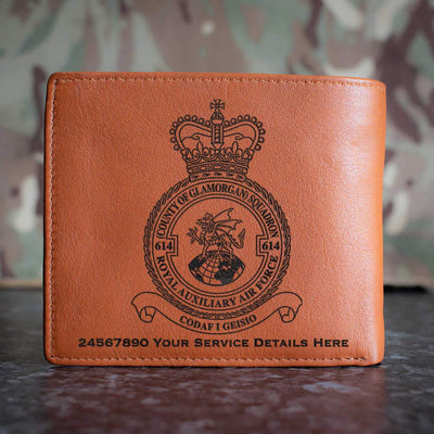 RAuxAF 614 (County of Glamorgan) Squadron Leather Wallet