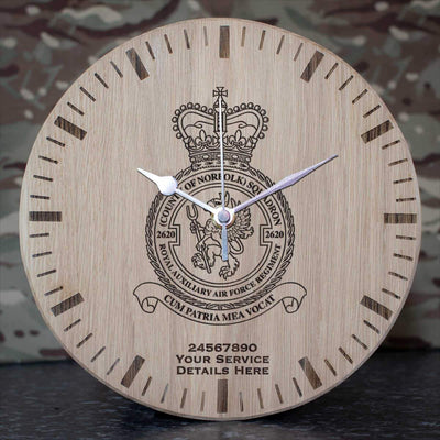 RAuxAF 2620 (County of Norfolk) Squadron Oak Clock