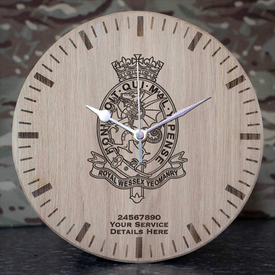 Royal Wessex Yeomanry Oak Clock