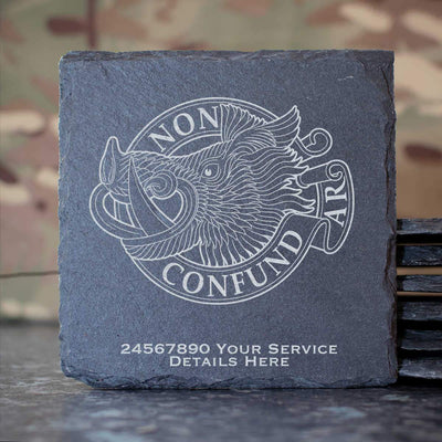 Aberdeen University Officers Training Corps Slate Coaster