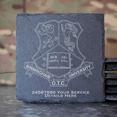 Birmingham University Officer Training Corps Slate Coaster