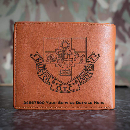 Bristol University Officers Training Corps Leather Wallet