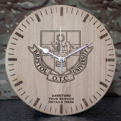 Bristol University Officers Training Corps Oak Clock