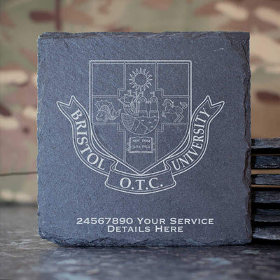Bristol University Officers Training Corps Slate Coaster