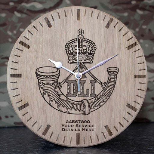 Durham Light Infantry Oak Clock