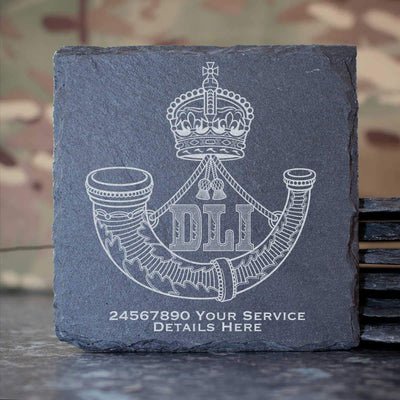 Durham Light Infantry Slate Coaster