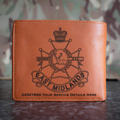 East Midlands university Officers Training Corps Leather Wallet
