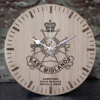 East Midlands university Officers Training Corps Oak Clock