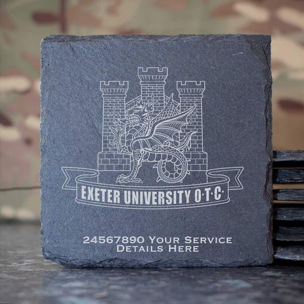 Exeter University Officers Training Corps Slate Coaster