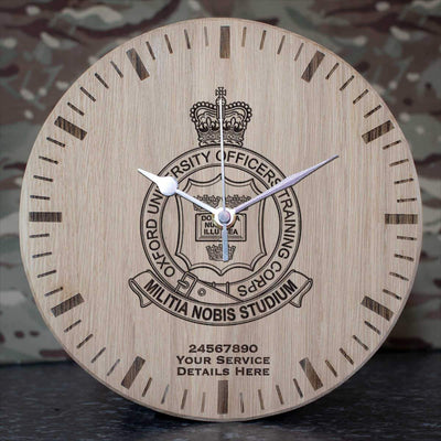 Oxford University Officers Training Corps Oak Clock