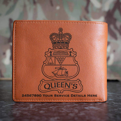 Queens University Officer Training Corps Leather Wallet