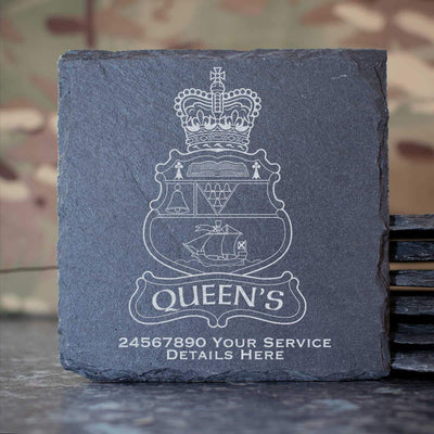 Queens University Officer Training Corps Slate Coaster