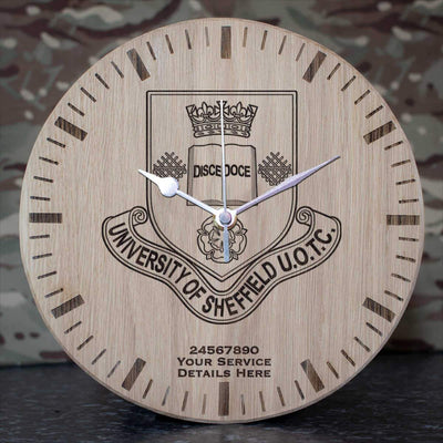Sheffield University Officer Training Corps Oak Clock