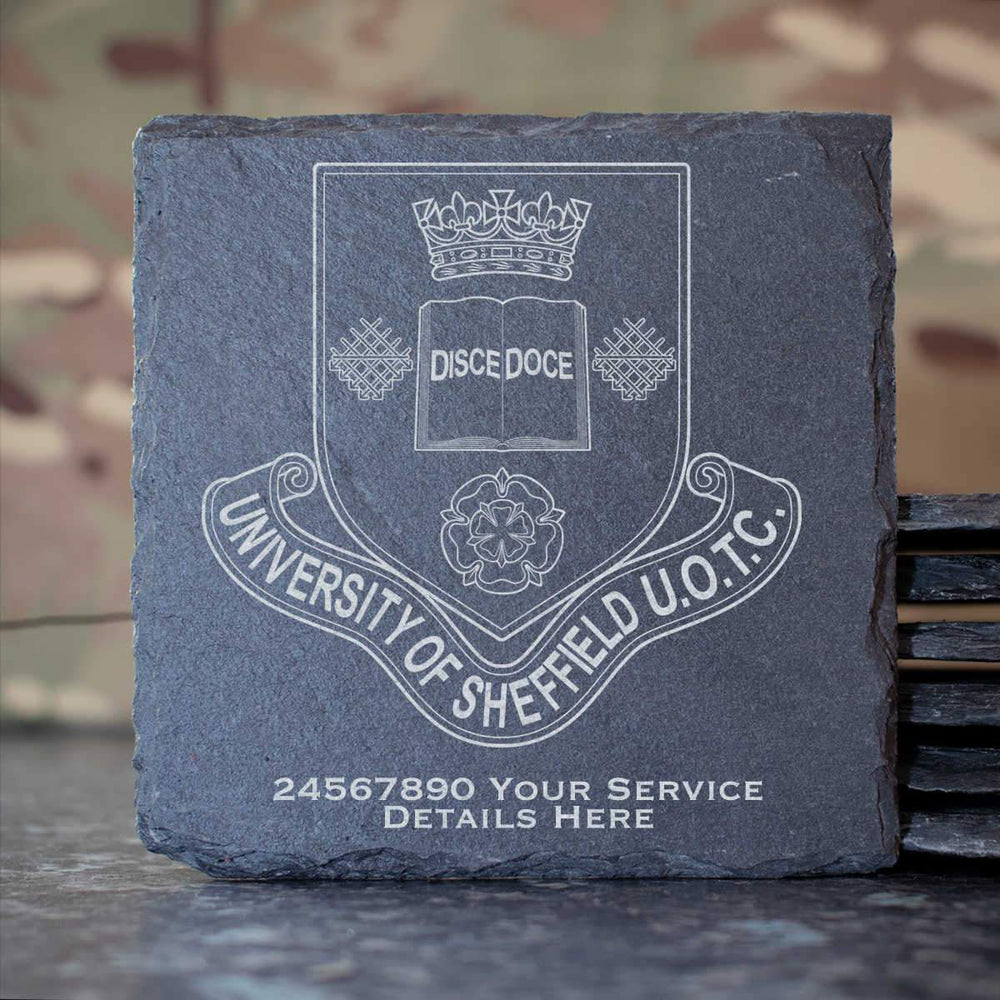 Sheffield University Officer Training Corps Slate Coaster