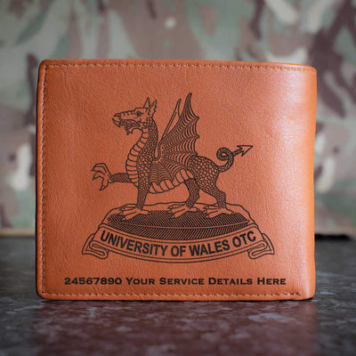 University of Wales Officer Training Corps Leather Wallet