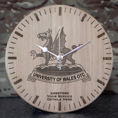 University of Wales Officer Training Corps Oak Clock