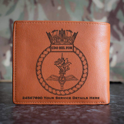 Combined Helicopter Force Leather Wallet