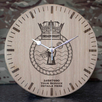 Dreadnought Oak Clock