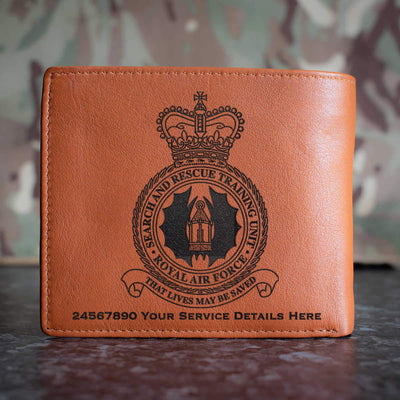 RAF Search and Rescue Training Unit Leather Wallet