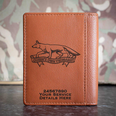 Queens Own Yeomanry Credit Card Wallet
