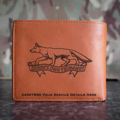 Queens Own Yeomanry Leather Wallet