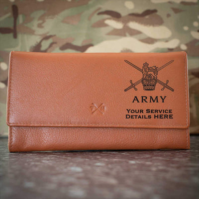 Army Logo Leather Purse