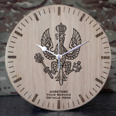 14th20th Kings Hussars Oak Clock