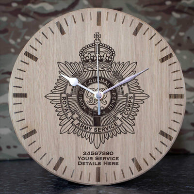 Royal Army Service Corps Oak Clock