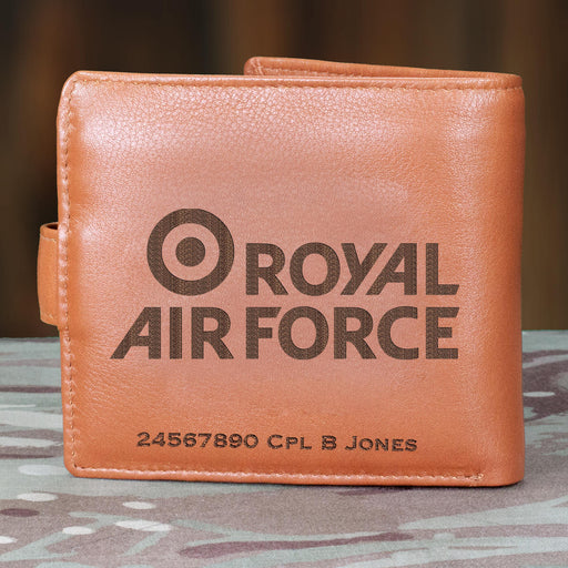 RAF Brand Logo Personalised Oak Clock (201)