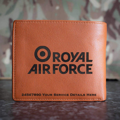 RAF Brand Logo Leather Wallet
