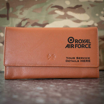 RAF Brand Logo Leather Purse
