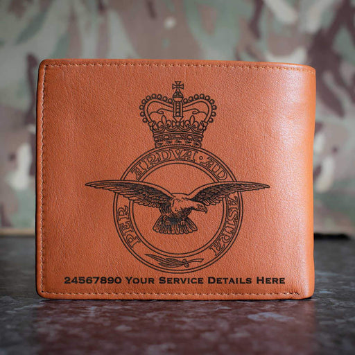 RAF Crest Leather Wallet