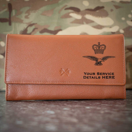RAF Eagle and Crown Leather Purse
