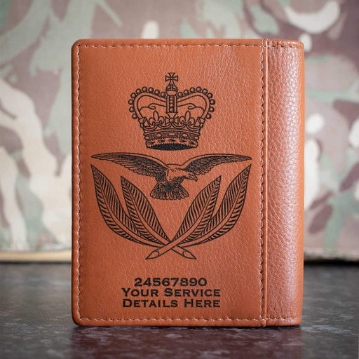 RAF Warrrant Office Cap Badge Credit Card Wallet